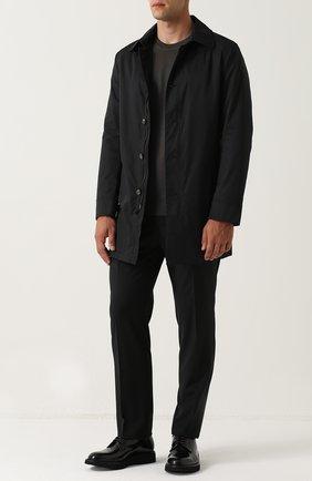 Джемпер из шерсти тонкой вязки Dolce & Gabbana темно-серый | Фото №2