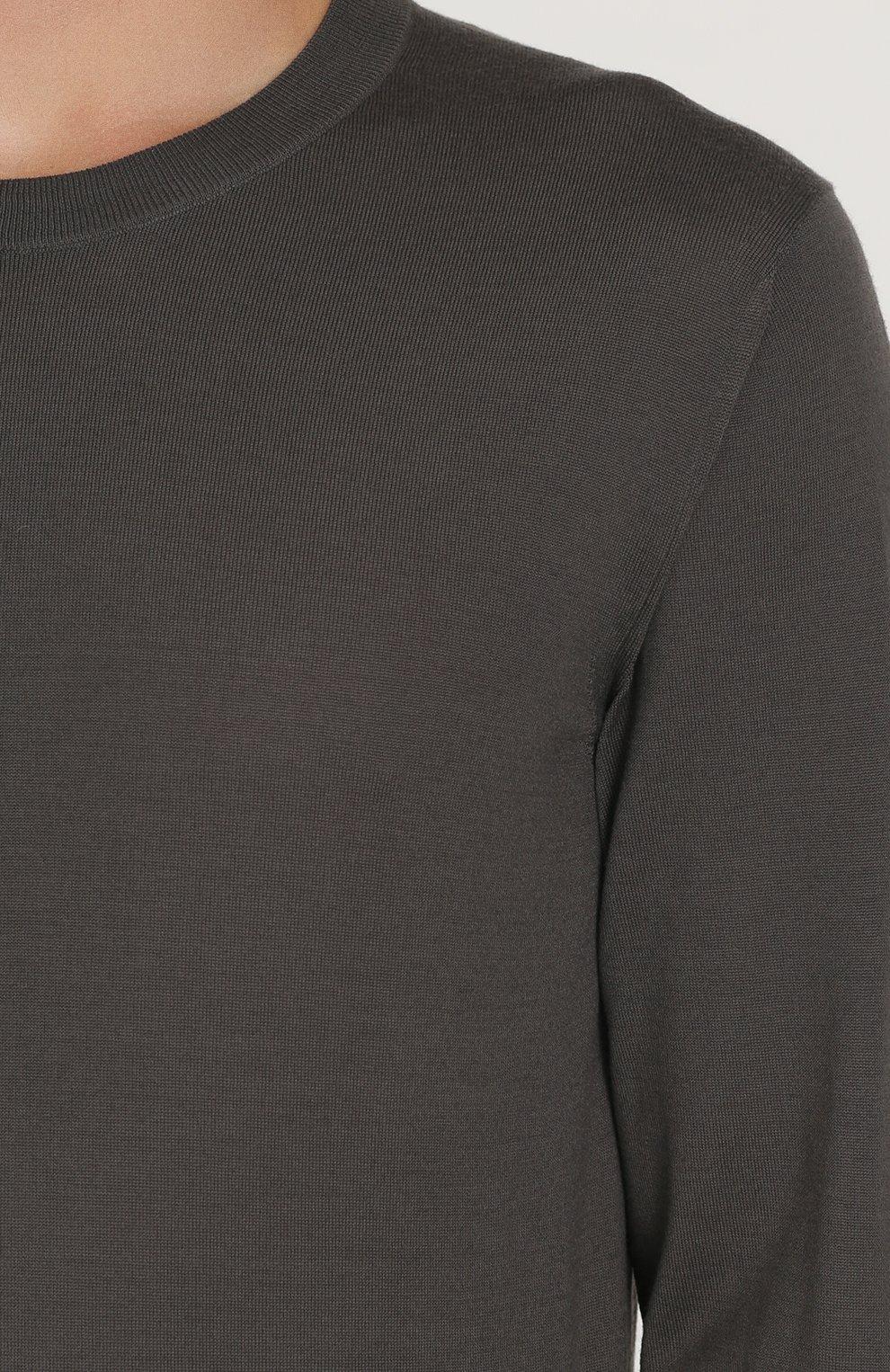 Джемпер из шерсти тонкой вязки Dolce & Gabbana темно-серый | Фото №5