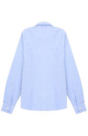 Детская хлопковая рубашка прямого кроя Dal Lago голубого цвета | Фото №1