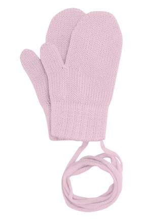 Детские варежки из шерсти CATYA розового цвета, арт. 721519 | Фото 1