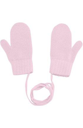 Детские варежки из шерсти CATYA розового цвета, арт. 721519 | Фото 2