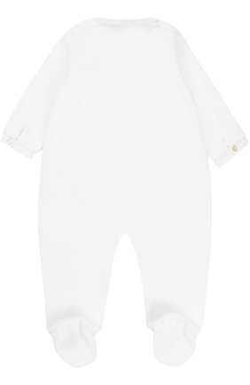 Детский хлопковый комбинезон с оборками и вышивкой TARTINE ET CHOCOLAT белого цвета, арт. TK54011 | Фото 2