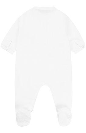 Детский хлопковый комбинезон со вставкой из полиэстера TARTINE ET CHOCOLAT белого цвета, арт. TK54081 | Фото 2