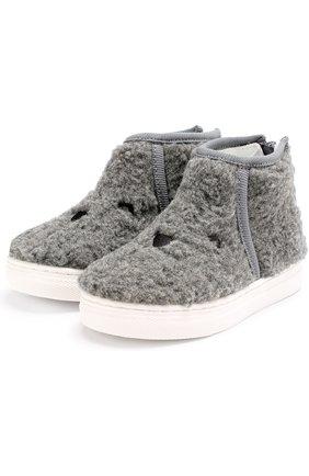 Ботинки из текстиля с вышивкой на молнии | Фото №1