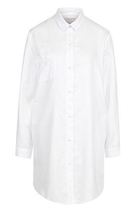 Хлопковая сорочка свободного кроя | Фото №1