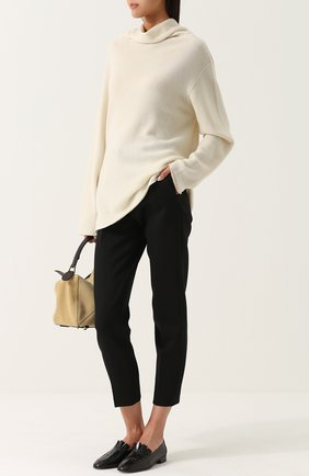 Кашемировый свитер свободного кроя The Row бежевый | Фото №1
