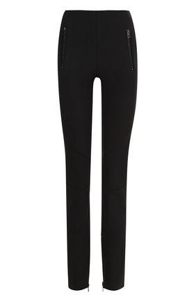 Однотонные брюки-скинни | Фото №1