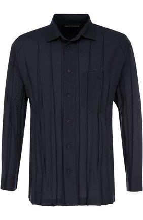 Плиссированная рубашка свободного кроя | Фото №1