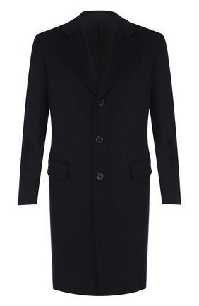 Однобортное кашемировое пальто с отложным воротником | Фото №1