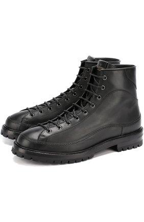Высокие кожаные ботинки Valentino Garavani на шнуровке