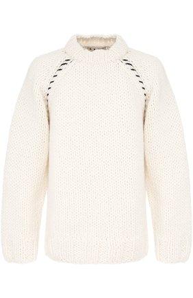 Шерстяной вязаный свитер свободного кроя | Фото №1