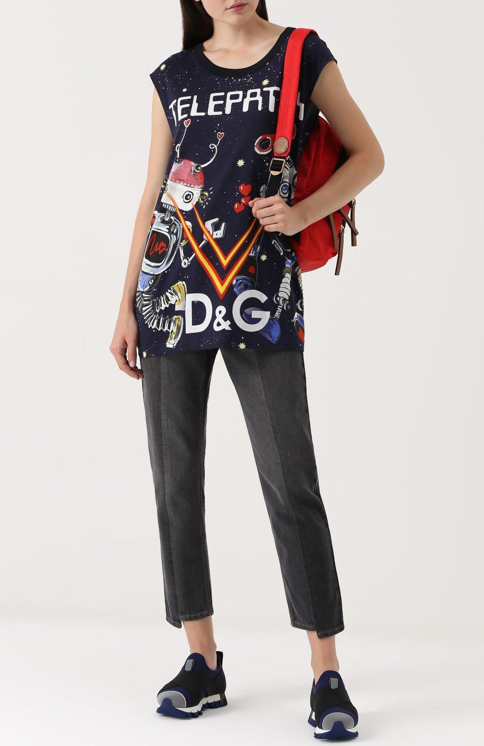 Кроссовки Ibiza на рельефной подошве Dolce & Gabbana темно-синие | Фото №2