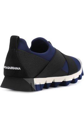 Кроссовки Ibiza на рельефной подошве Dolce & Gabbana темно-синие | Фото №4