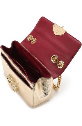 Сумка Lucia на цепочке Dolce & Gabbana золотого цвета | Фото №4