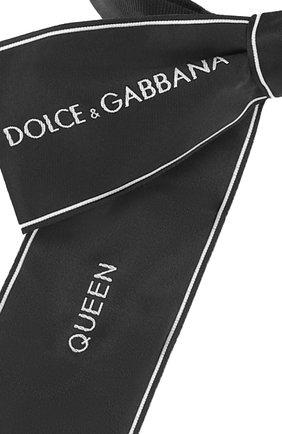 Галстук-бабочка с логотипом бренда Dolce & Gabbana черного цвета | Фото №2