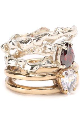 Кольцо с отделкой из камней | Фото №1