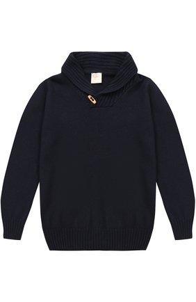 Вязаный свитер с декоративной пуговицей | Фото №1