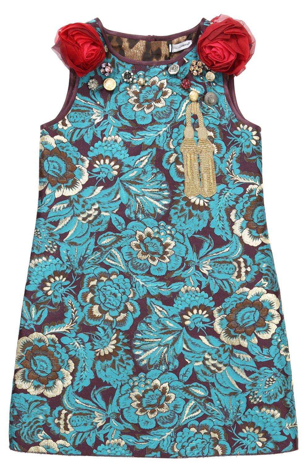 Мини-платье с цветочными аппликациями и декором | Фото №1