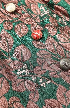 Мини-юбка с металлизированным принтом и декоративными пуговицами | Фото №3
