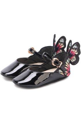 Туфли из лаковой кожи с аппликацией | Фото №1