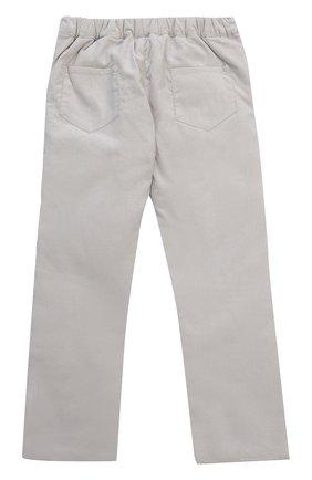 Детские хлопковые брюки прямого кроя с эластичной вставкой на поясе TARTINE ET CHOCOLAT серого цвета, арт. TK22071/2A-3A | Фото 2 (Материал внешний: Хлопок; Статус проверки: Проверено)