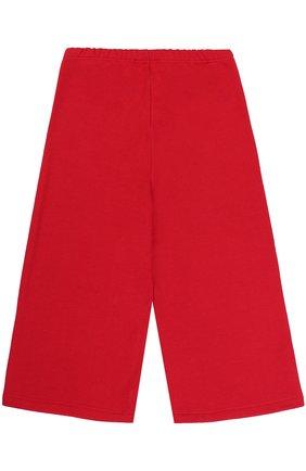 Детские хлопковые кюлоты с вышивкой Vivetta красного цвета | Фото №1
