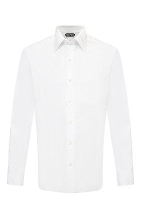 Мужская хлопковая сорочка с итальянским воротником TOM FORD белого цвета, арт. 2FT000/94S2JE | Фото 1