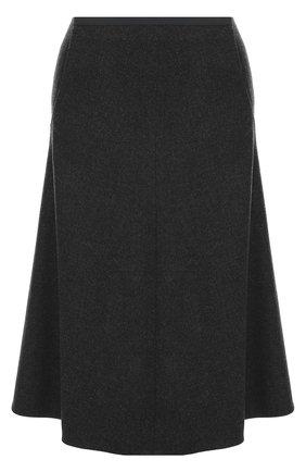Кашемировая юбка-миди с карманами | Фото №1
