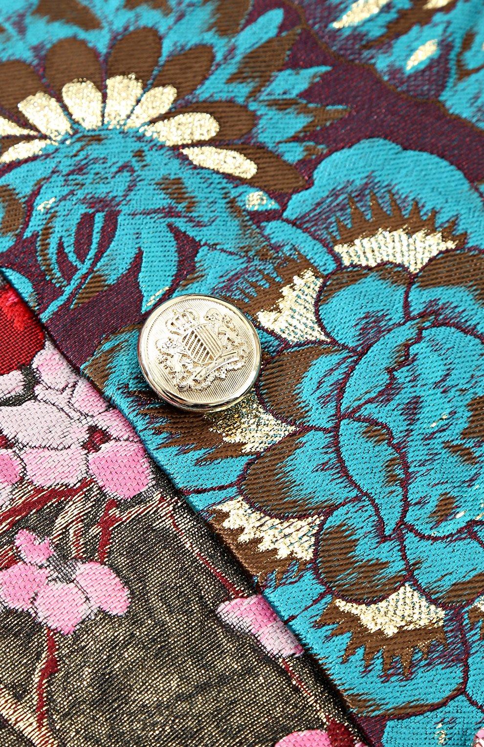Мини-юбка асимметричного кроя с принтом и декоративными пуговицами | Фото №3