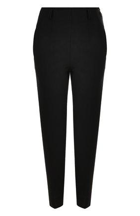 Шерстяные брюки прямого кроя со стрелками Christopher Kane черные | Фото №1