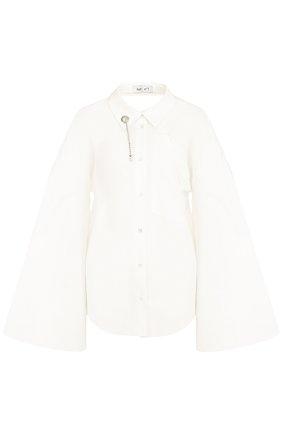Хлопковая блуза с широкими расклешенными рукавами | Фото №1