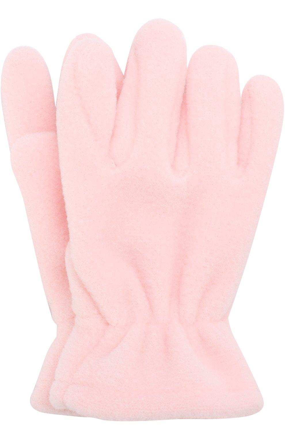 Детские текстильные перчатки CATYA розового цвета, арт. 721518 | Фото 1