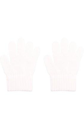 Детские вязаные перчатки CATYA белого цвета, арт. 721520 | Фото 2