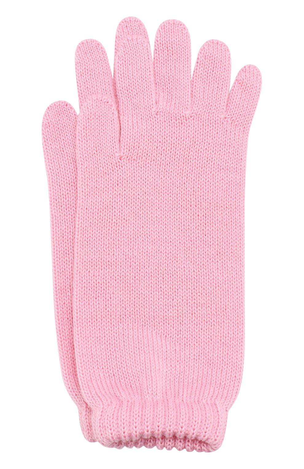 Детские удлиненные вязаные перчатки CATYA светло-розового цвета, арт. 721521 | Фото 1