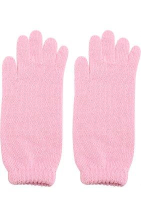 Детские удлиненные вязаные перчатки CATYA светло-розового цвета, арт. 721521 | Фото 2