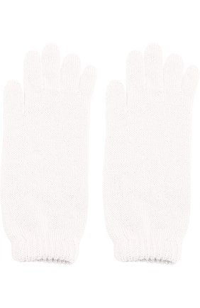 Детские удлиненные вязаные перчатки CATYA белого цвета, арт. 721521 | Фото 2