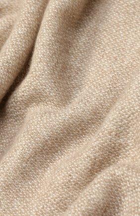Мужской кашемировый шарф с необработанным краем KITON светло-бежевого цвета, арт. USCIACX03P81   Фото 2