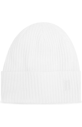 Мужская хлопковая шапка 11 BY BORIS BIDJAN SABERI белого цвета, арт. BEANIE1 11XNE | Фото 1