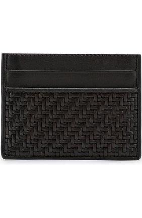 Мужской кожаный футляр для кредитных карт ERMENEGILDO ZEGNA темно-коричневого цвета, арт. E1139P-PSM | Фото 1