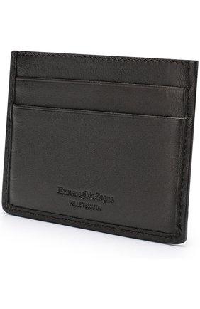 Мужской кожаный футляр для кредитных карт ERMENEGILDO ZEGNA темно-коричневого цвета, арт. E1139P-PSM | Фото 2