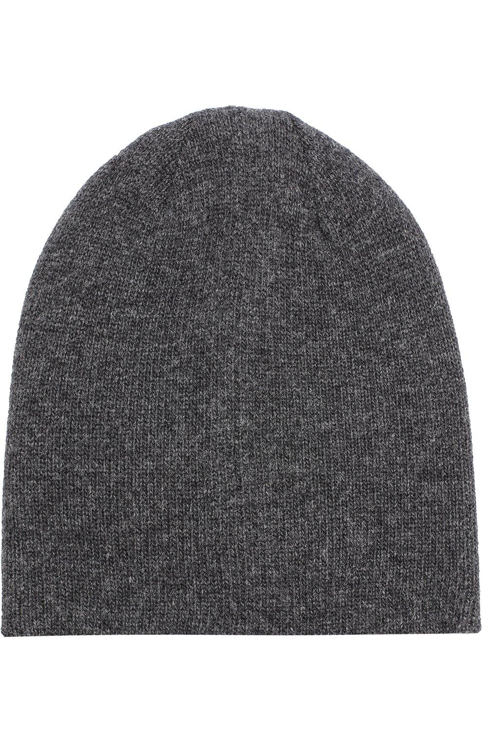Шерстяная шапка бини Dolce & Gabbana серого цвета | Фото №2