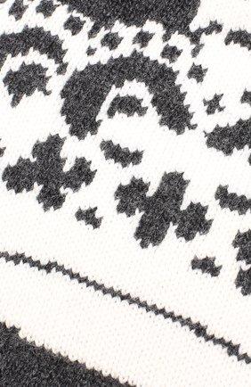 Шерстяная шапка бини Dolce & Gabbana серого цвета | Фото №3