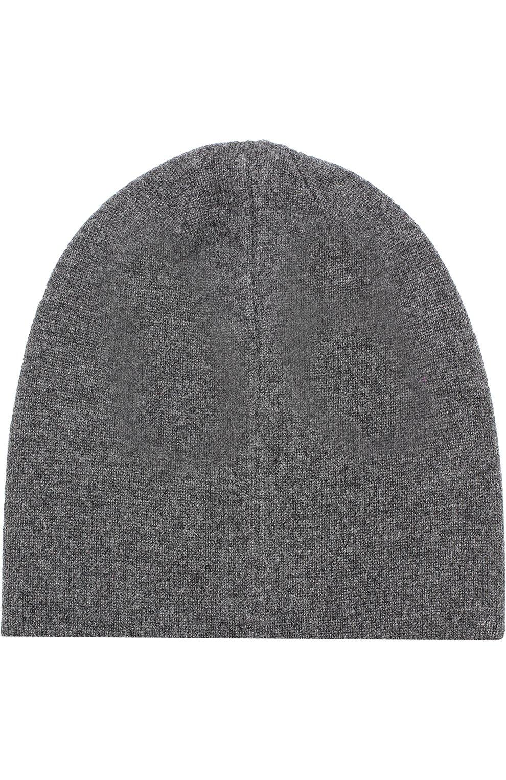 Кашемировая шапка бини Dolce & Gabbana серого цвета | Фото №2