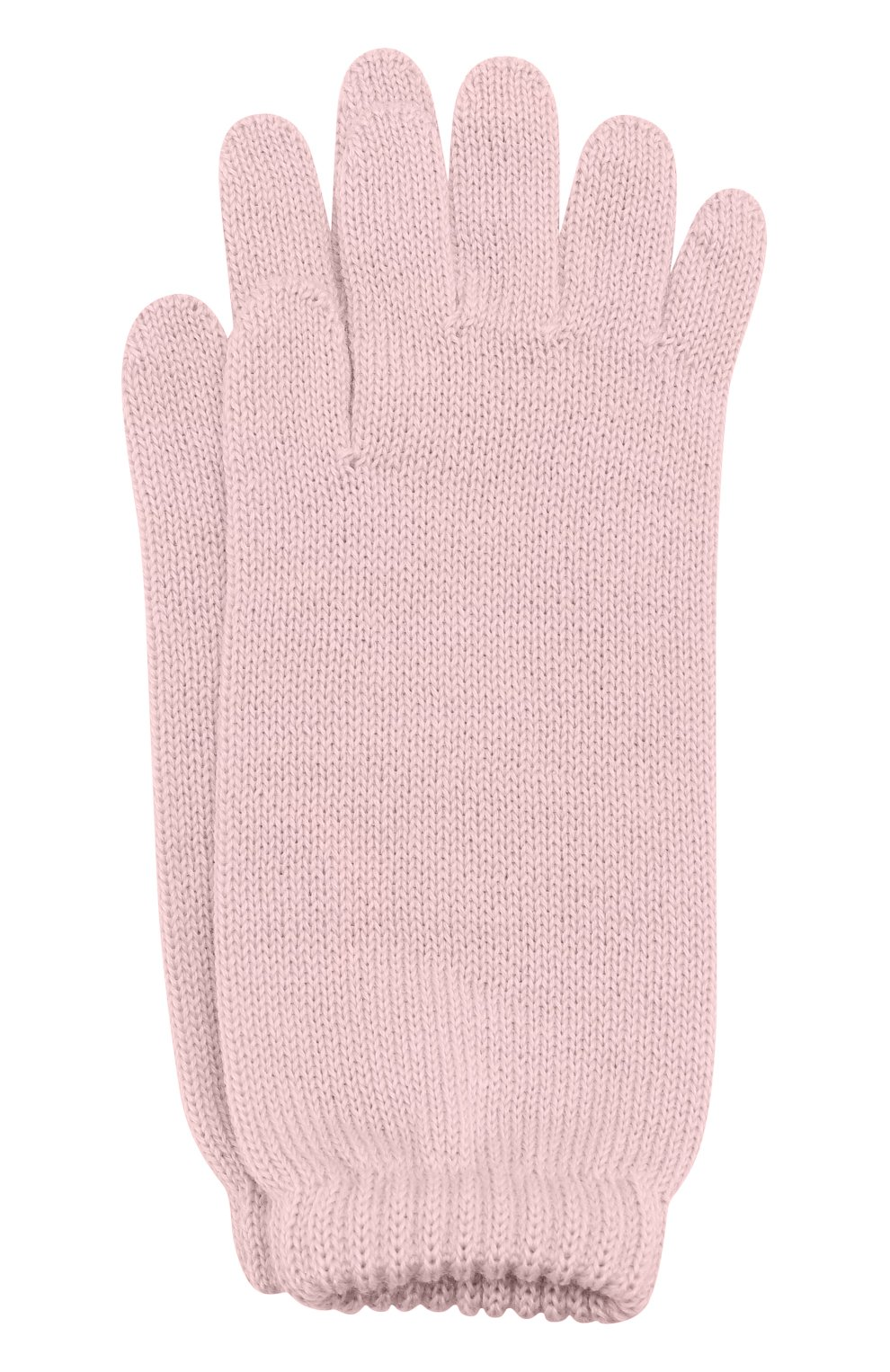 Детские удлиненные вязаные перчатки CATYA розового цвета, арт. 721521 | Фото 1