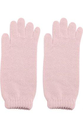 Детские удлиненные вязаные перчатки CATYA розового цвета, арт. 721521 | Фото 2