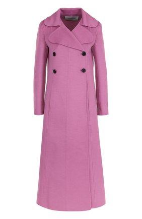 Шерстяное двубортное пальто   Фото №1