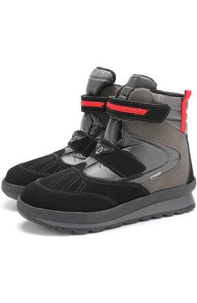 Комбинированные утепленные ботинки | Фото №1