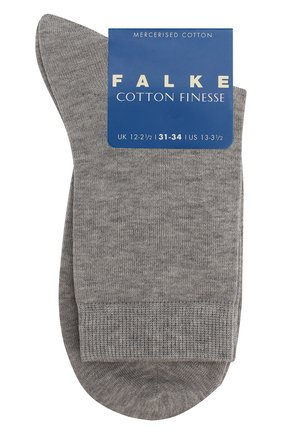 Детские носки из хлопка FALKE светло-серого цвета, арт. 10669 | Фото 1