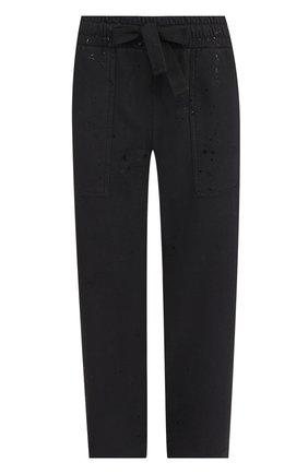 Укороченные брюки прямого кроя с эластичным поясом | Фото №1