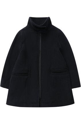 Шерстяное пальто свободного кроя на молнии | Фото №1